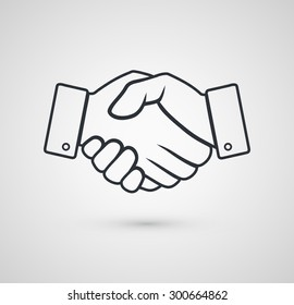 Handshake icon for business. Vector illustration