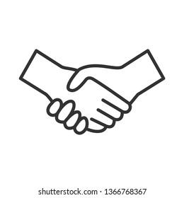 \nHandshake Icon. Deal or Agreement \nIllustration As A Simple Vector Sign & Trendy Symbol for Design, Websites, Presentation or Application.