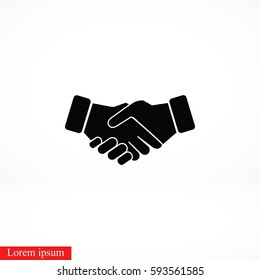 Handshake Icon, flat design best vector icon