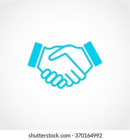 Handshake Icon Isolated on White Background