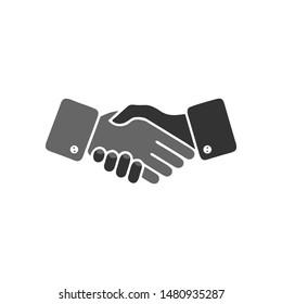 Handshake icon. isolated handshake vector icon. vector handshaking icon. flat handshaking vintage