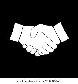 handshake icon handshake icon on a black background