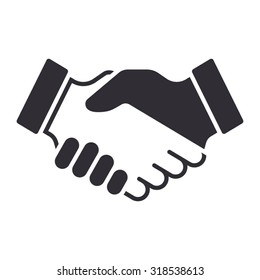 Handshake icon. Partnership and agreement symbol