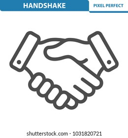 Handshake Icon. Professional, pixel perfect icons optimized for both large and small resolutions. EPS 8 format. 12x size for preview.