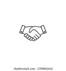 Handshake Icon, Handshake sign and symbol vector design