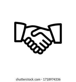 Handshake icon simple vector illustration