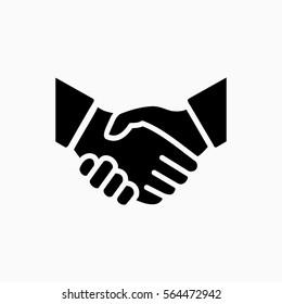 Handshake icon simple vector illustration. Deal or partner agreement symbol. Handshake sign. Hands meeting image.