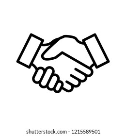 handshake icon trendy design template