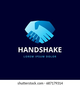 handshake icon. two hands logo template
