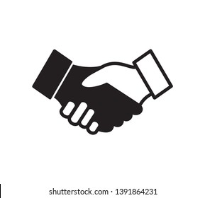 Handshake icon vector  ,Agreement sign illustration