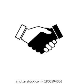 Handshake icon vector. business handshake. contact agreement