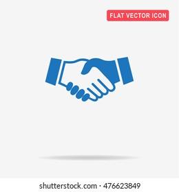 Handshake icon. Vector concept illustration for design.