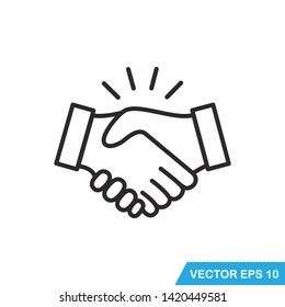handshake icon vector design  illustration