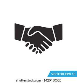handshake icon vector design  illustration