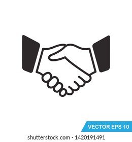 handshake icon vector design template