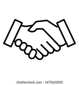 Handshake Icon Vector Design Template or Logo Illustration. Perfect use for website, design, pattern, etc.