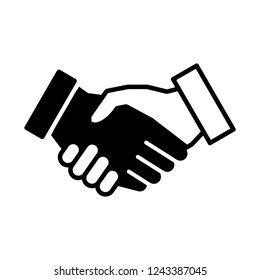 Handshake icon vector on white background