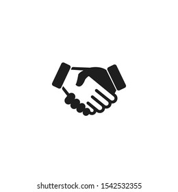 Handshake icon vector on a white background
