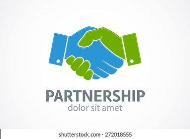 Handshake icon. Vector. Partnership concept.