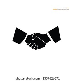 Handshake  icon.business concept.vector illustration.eps10.