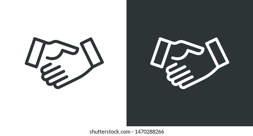 Handshake Illustration Sign Icon Vector