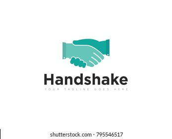 handshake logo, icon, symbol, design template
