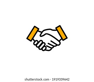 Handshake premium line icon. Simple high quality pictogram. Modern outline style icons. Stroke vector illustration on a white background.