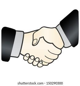 Handshake. sign of agreement
