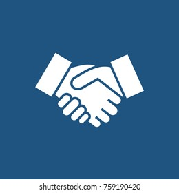 Handshake sign. Handshake icon simple vector illustration. Deal or partner agreement symbol.
