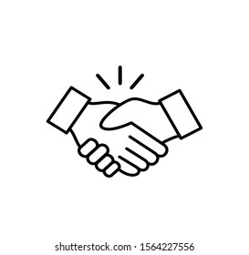 Handshake sign vector logo template