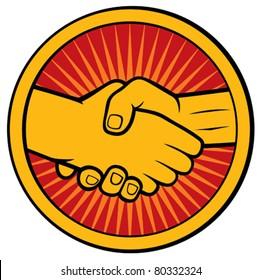 handshake symbol (emblem, sign)