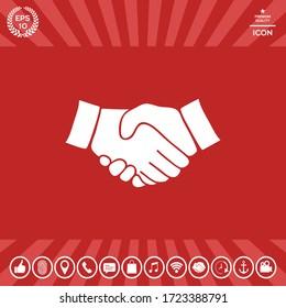 Handshake symbol icon. Graphic elements for your design