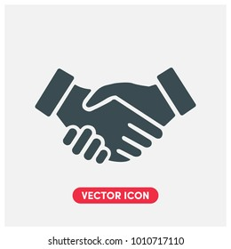 Handshake Vector Icon Illustration.Business Handshake .Contract Agreement Flat Icon For Mobile App And Web.Ui/Ux.Light Premium Quality.