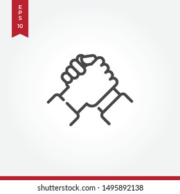 Handshake vector icon in modern style for web site and mobile app
