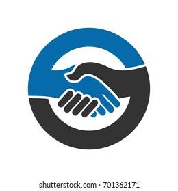 handshake vector logo. shaking hand icon.