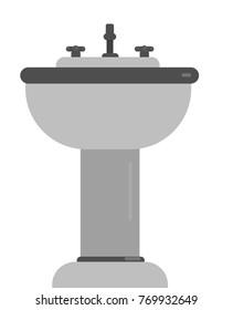Handwash bathroom isolated vector illustration