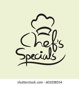 Handwritten 'Chef's Specials' in restaurant