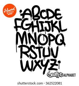 Graffiti Alphabet Font Images, Stock Photos & Vectors