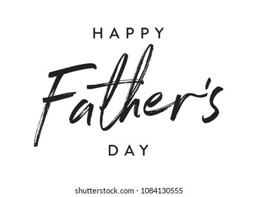 Handwritten Happy Father's Day Appreciation Vector Text, Father's Day Background, Father's Day Banner, Banner Background for Posters, Flyers, Marketing, Greeting Cards