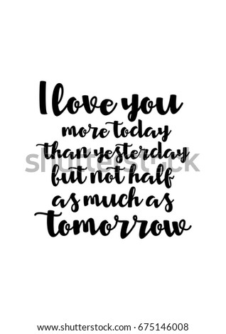 Handwritten Lettering Positive Quote About Love Stock Vector
