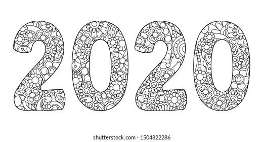 Mandala Number Images, Stock Photos & Vectors | Shutterstock