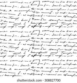 Handwritten seamless background. Vector