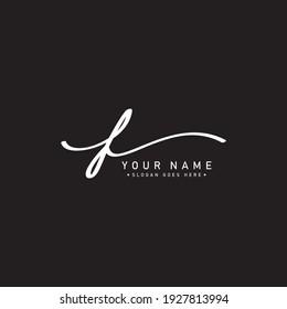 Handwritten Signature Logo for Initial Letter F