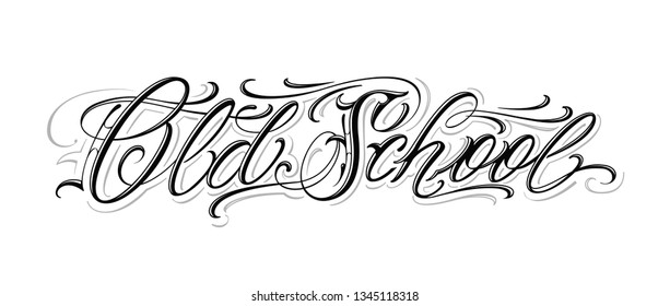 Is handwritten tattoo calligraphic font for you and yours. Scale to any size