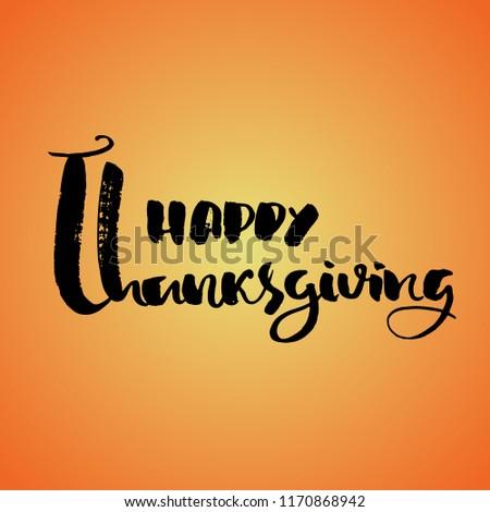 handwritten thanksgiving lettering happy thanksgiving card stock