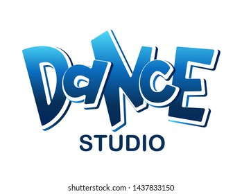 Handwritten word Dance. Hand drawn lettering. Element for your design for banner, poster, ticket. Vector illustration. - Vector