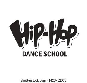 Handwritten word Hip-Hop. Hand drawn lettering. Element for your design for banner, poster, ticket. Vector illustration. - Vector