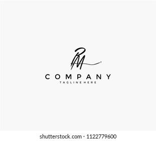 Handwritting Signature Letter PM Logotype