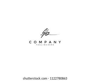 Handwritting Signature Letter SB Logotype