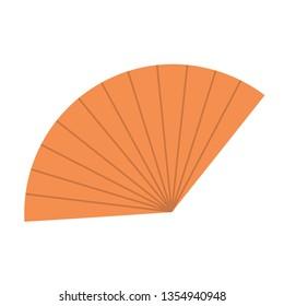Handy fan flat illustration on white
